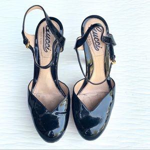 Gucci Shoes - Gucci Patent Platform Heels